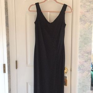 Black Formal Dress with Bead Accents